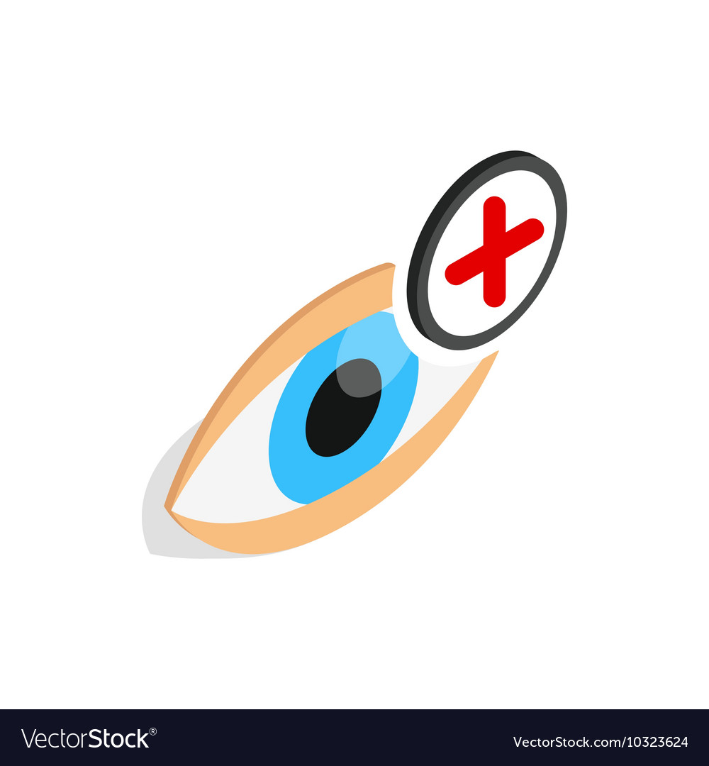 Vision farsightedness icon isometric 3d style