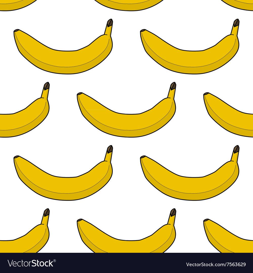 Colorful seamless pattern of bananas