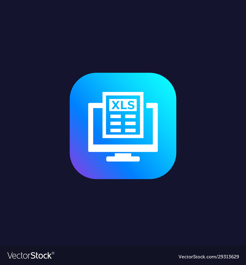 Download xls document in computer icon