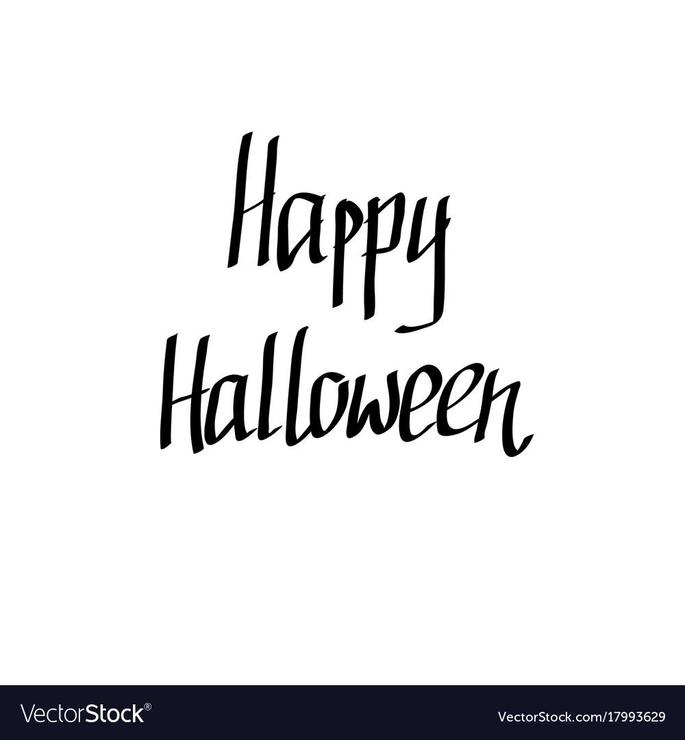 Hand-written happy halloween words