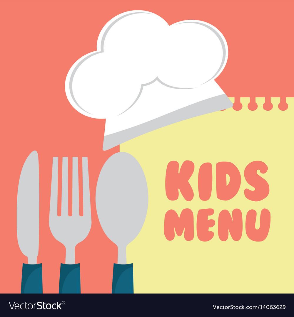Kids menu cuttlery kitchen design