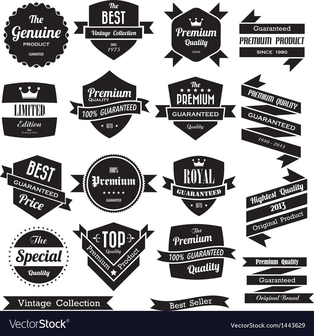 Set retro vintage badges and labels