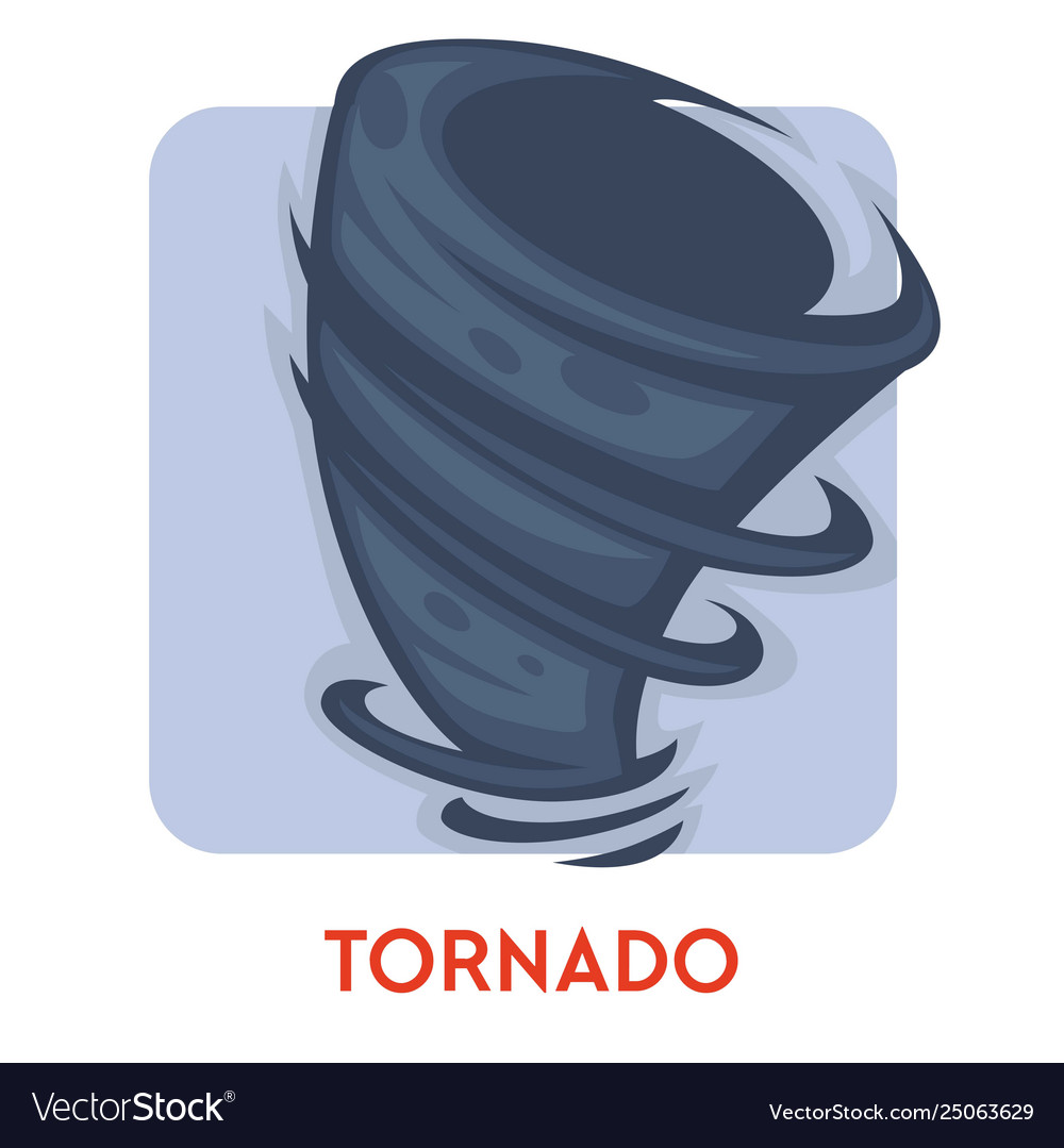 Tornado isolated icon natural disaster rotating