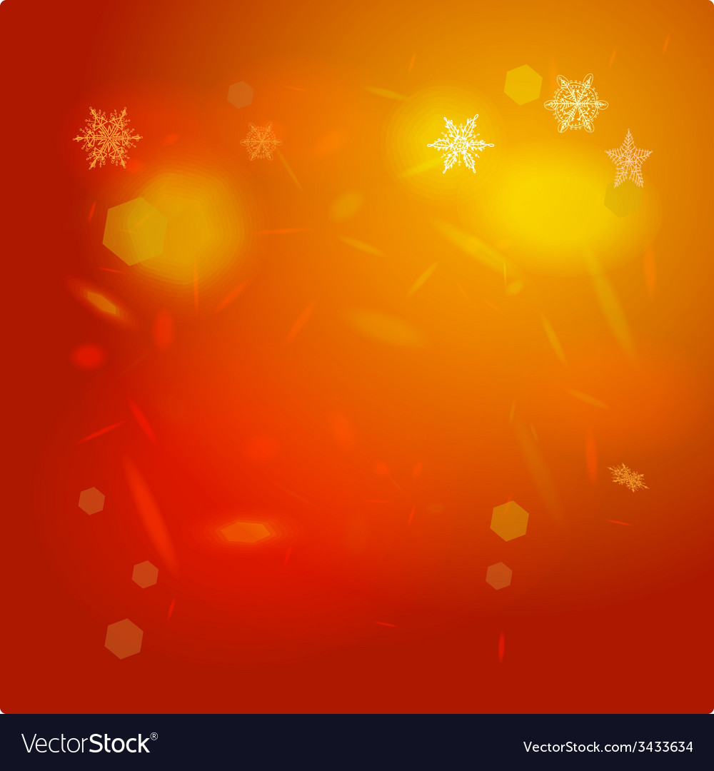 Abstract background orange red card Merry vector image