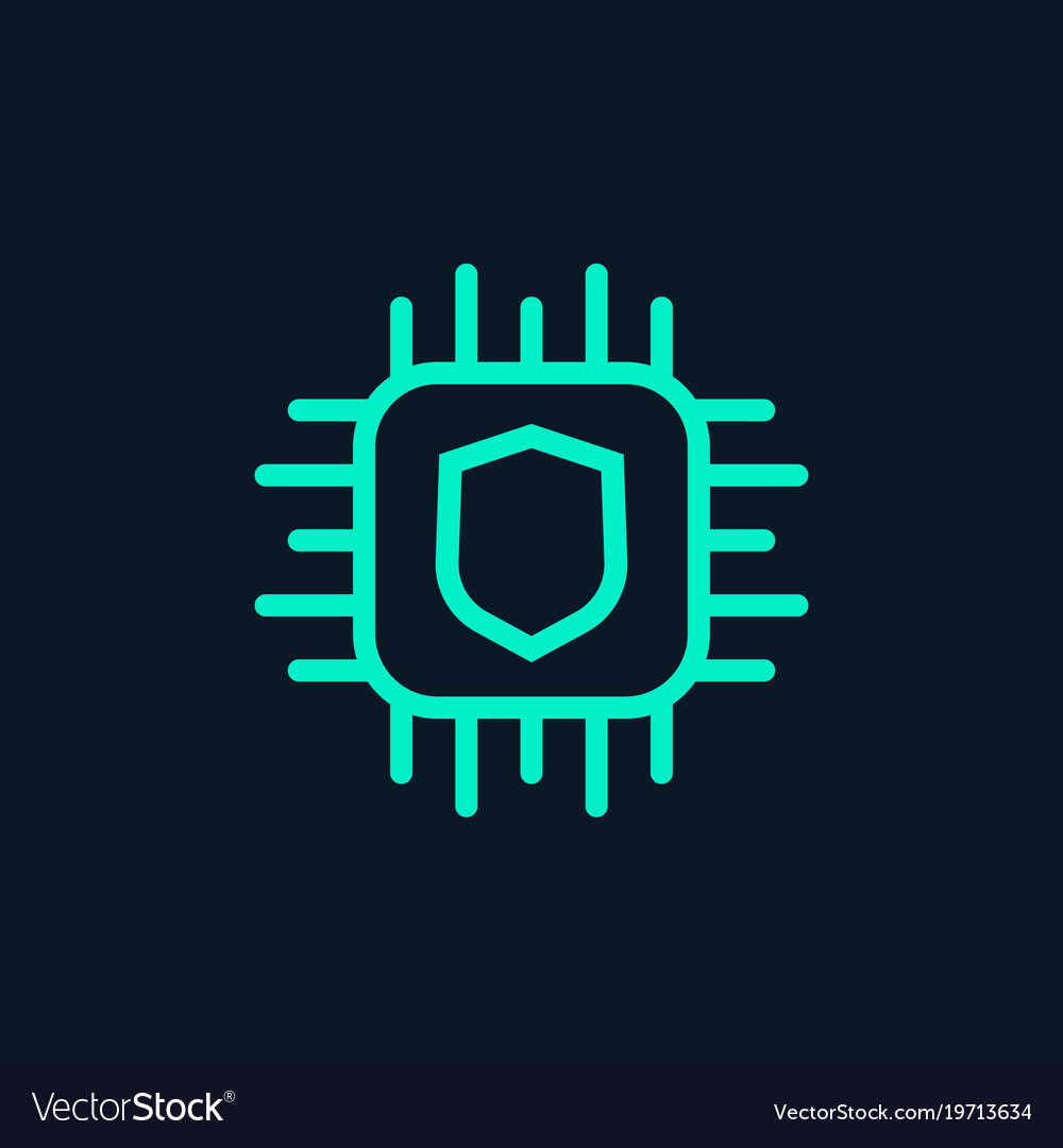 Cryptography icon linear