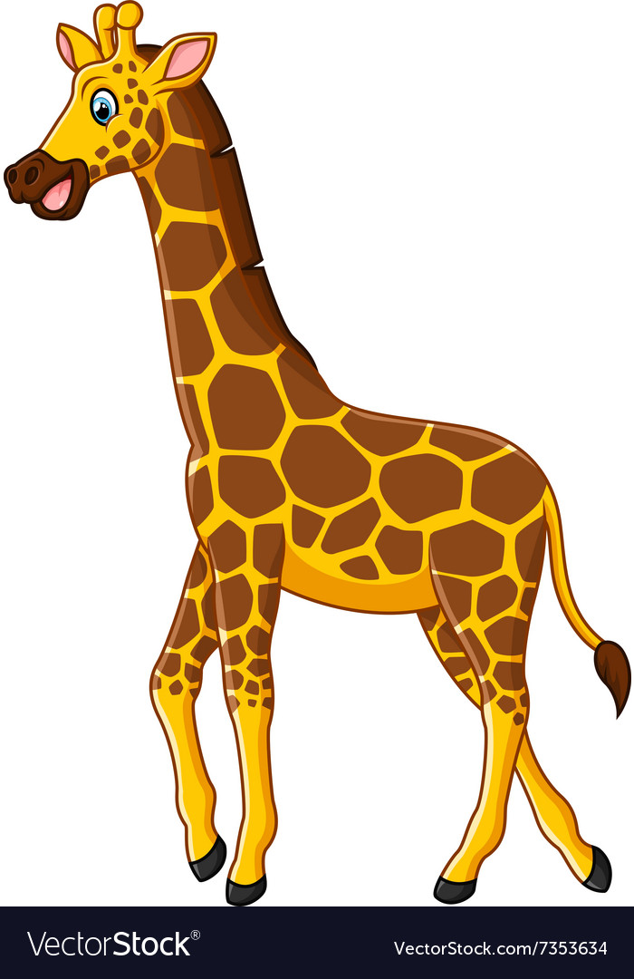 Cute giraffe cartoon Royalty Free Vector Image