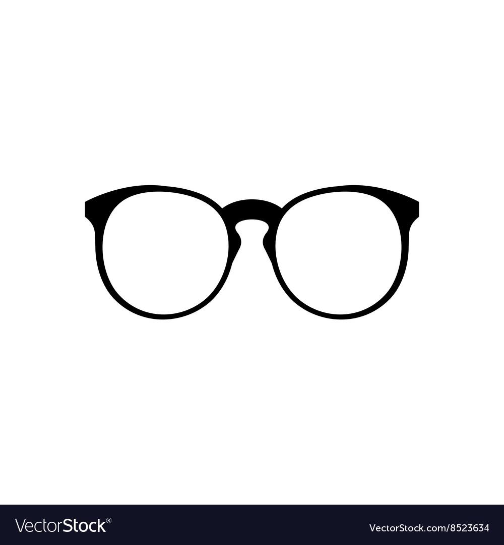 Eyeglasses icon simple vector image