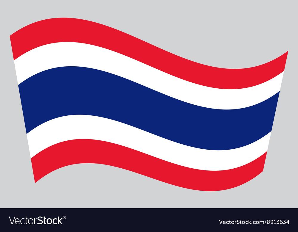 Flag of Thailand waving vector image
