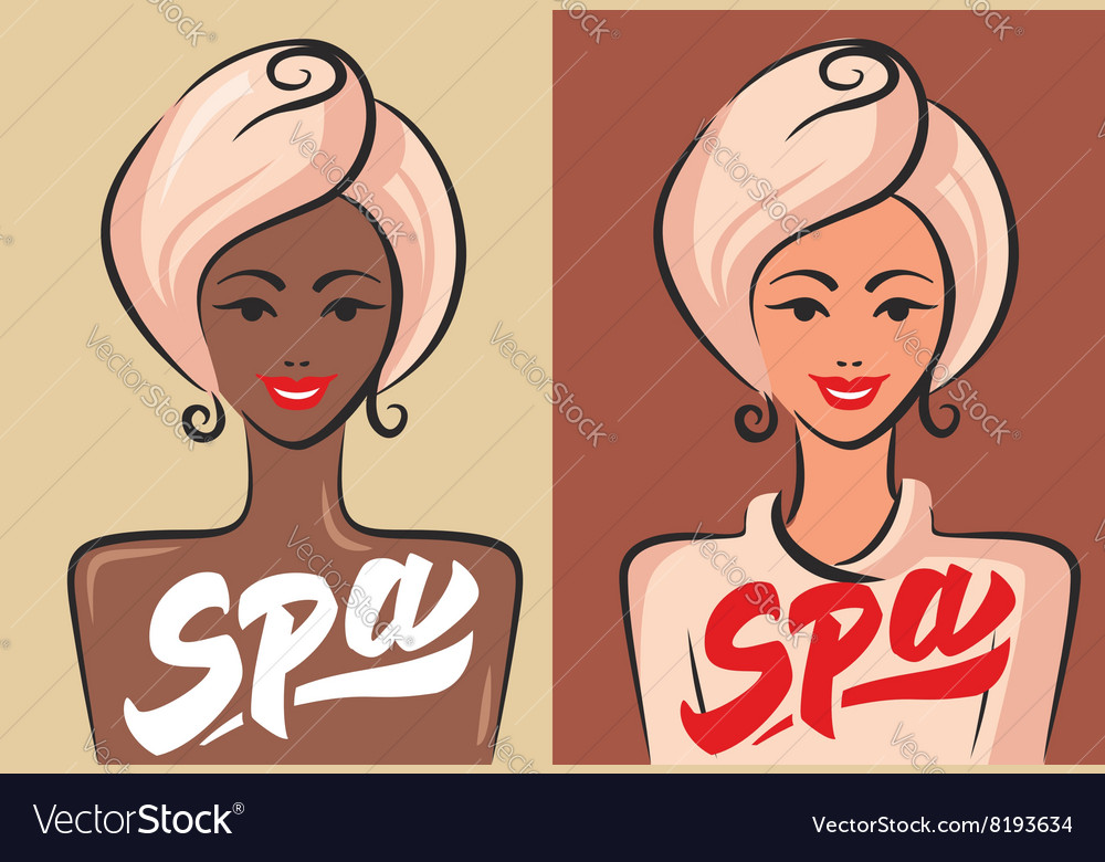 Happy spa wooman vector image