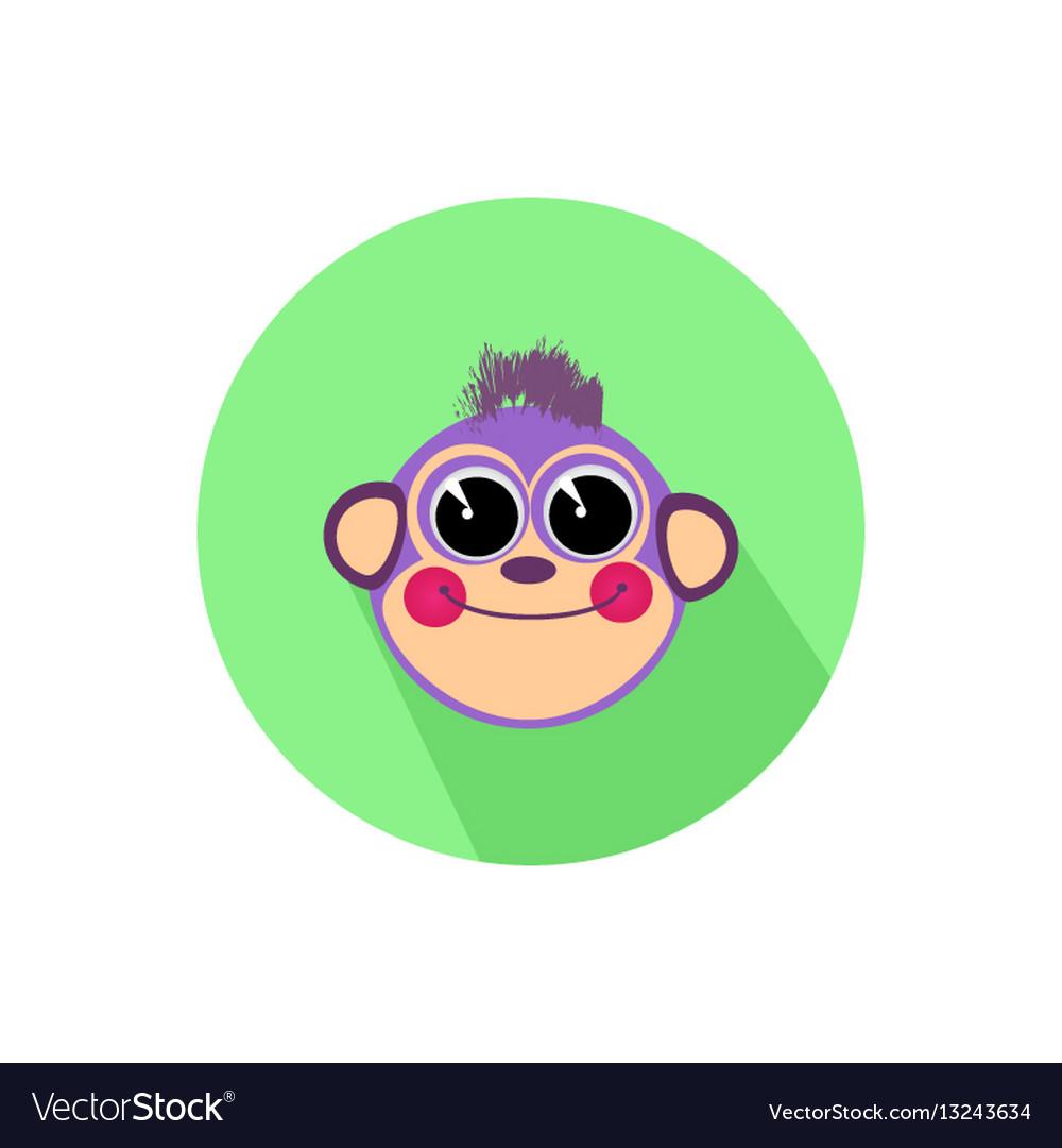 Icon monkey smiling isolated on white background