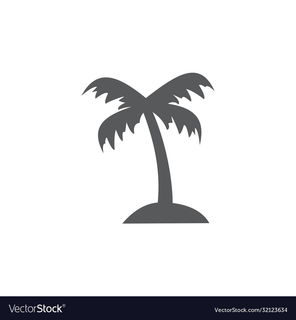 Palm tree icon on white background