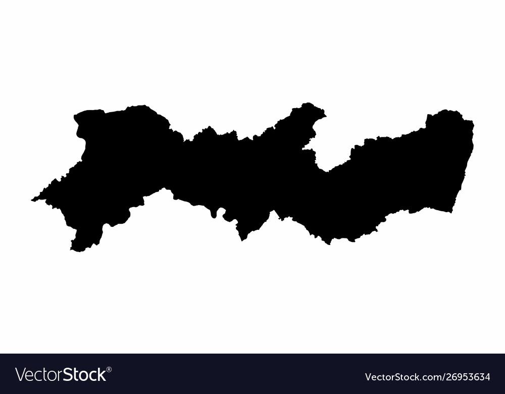 Pernambuco state silhouette map