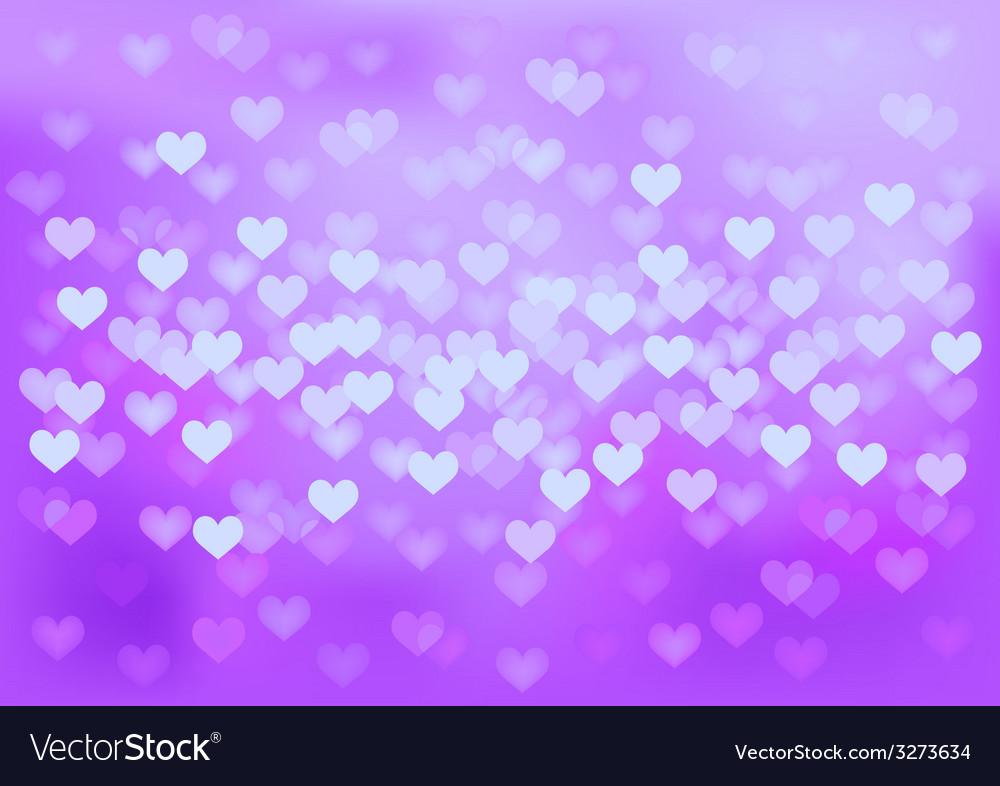 Purple festive lights in heart shape background