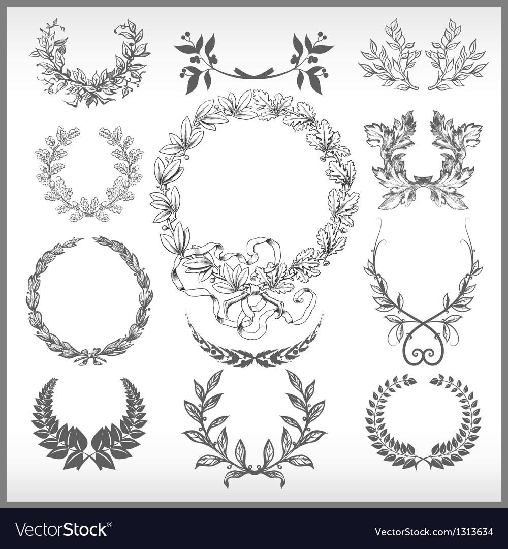 Set laurel wreaths