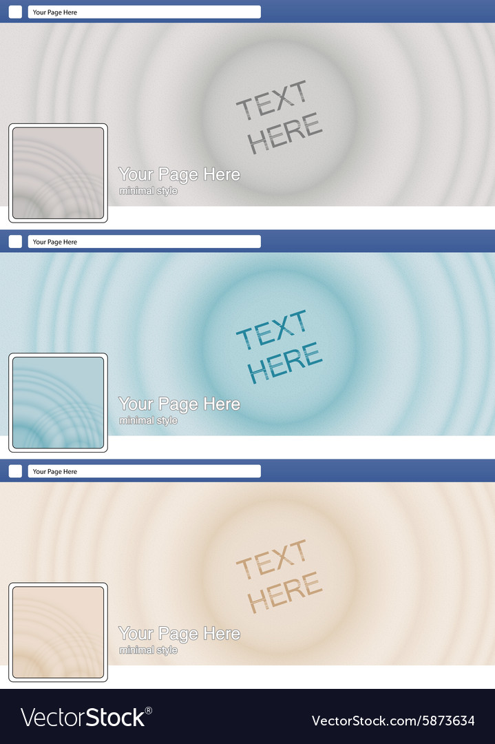 Zen sand minimal style face book page cover banner