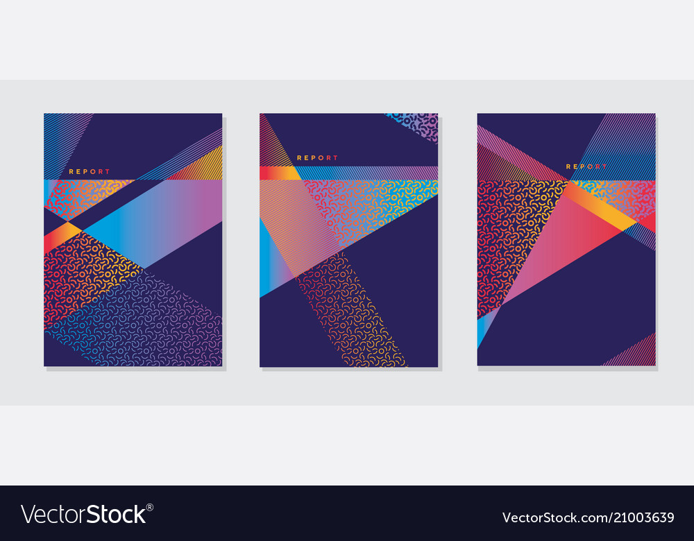 Abstract modern bright color geometric cover