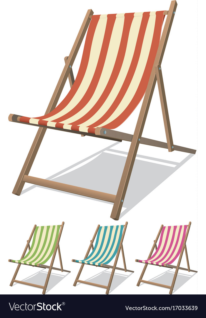 Beach Chair Set Royalty Free Vector