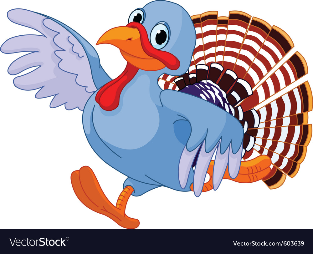 Cute, Running & Turkey Vector Images (45)
