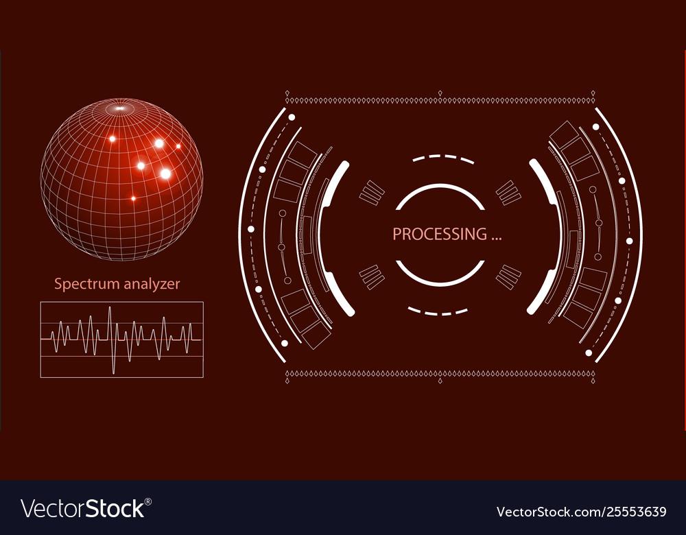 Futuristic user interface hud tech elements