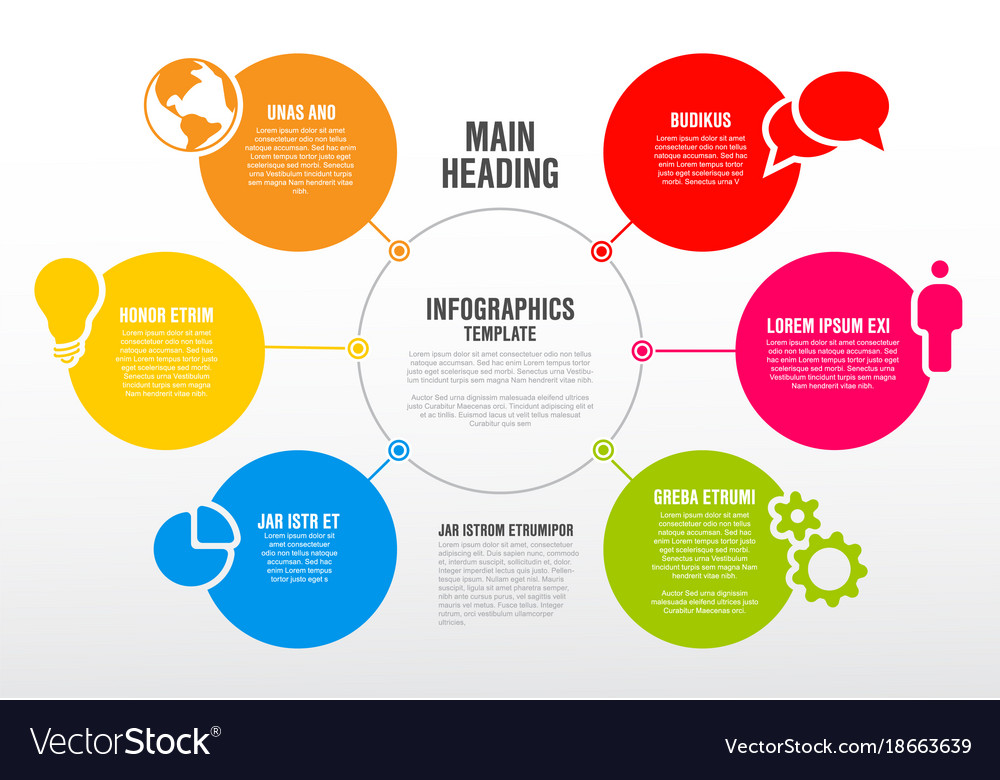 Infographic schema template Royalty Free Vector Image