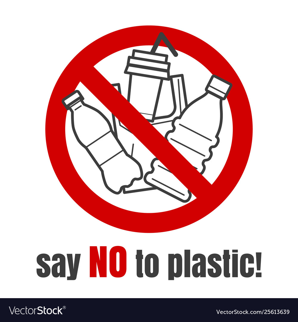 No plastic sign
