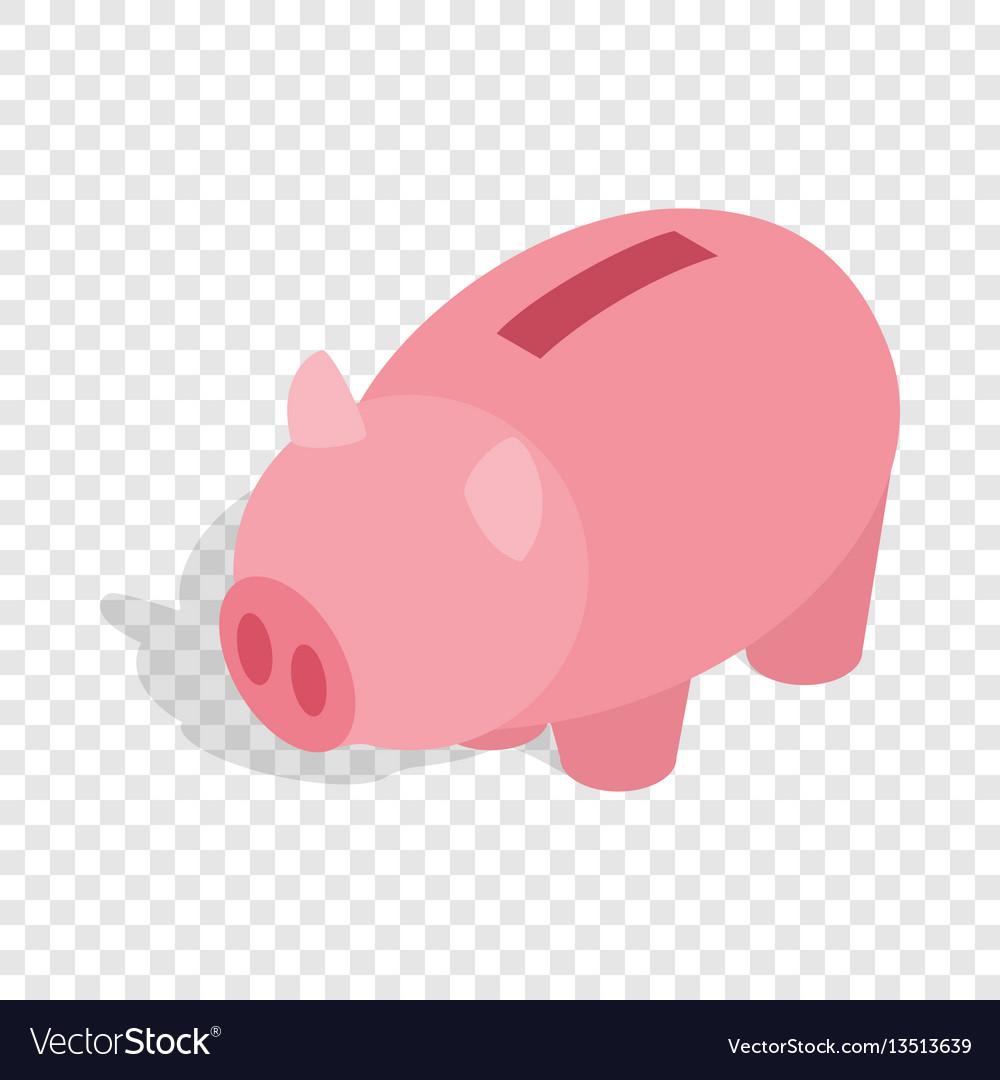 Piggy bank isometric icon