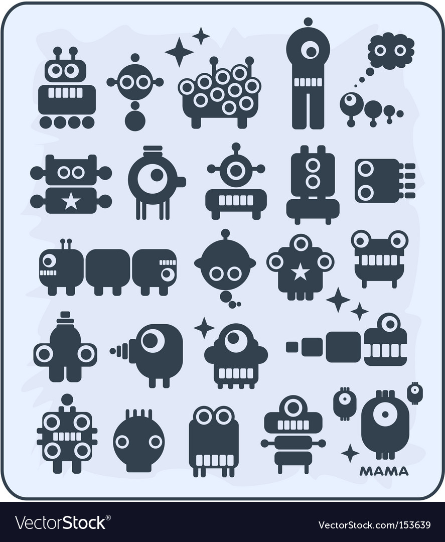 Robot monsters vector image