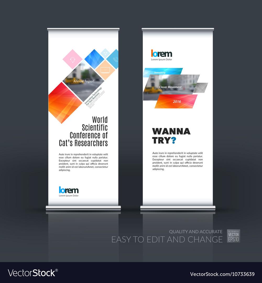 Set of modern roll Up Banner stand design