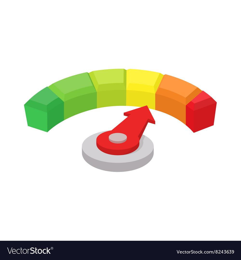 Speedometer or general indicator icon cartoon
