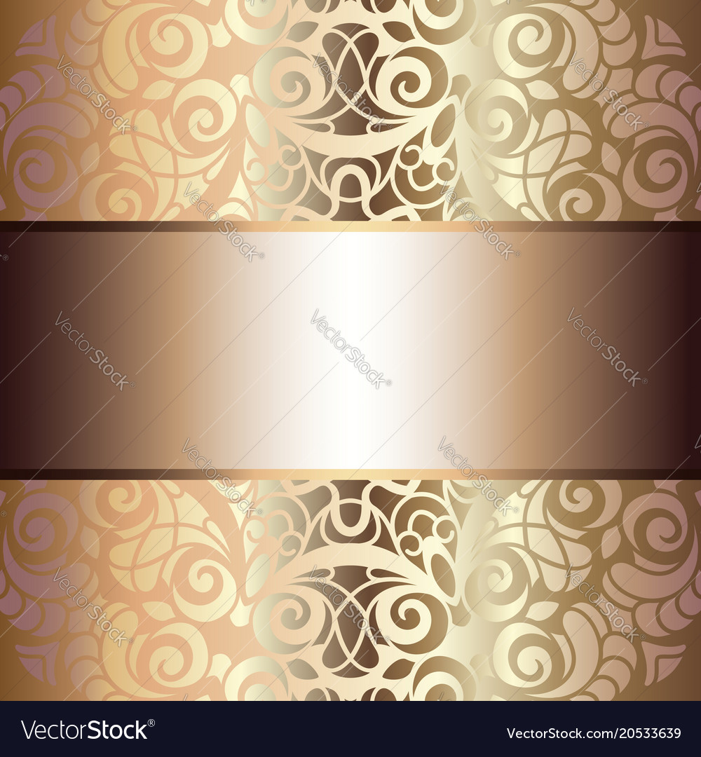 Vintage gold background invitation design vector image stopboris Image collections
