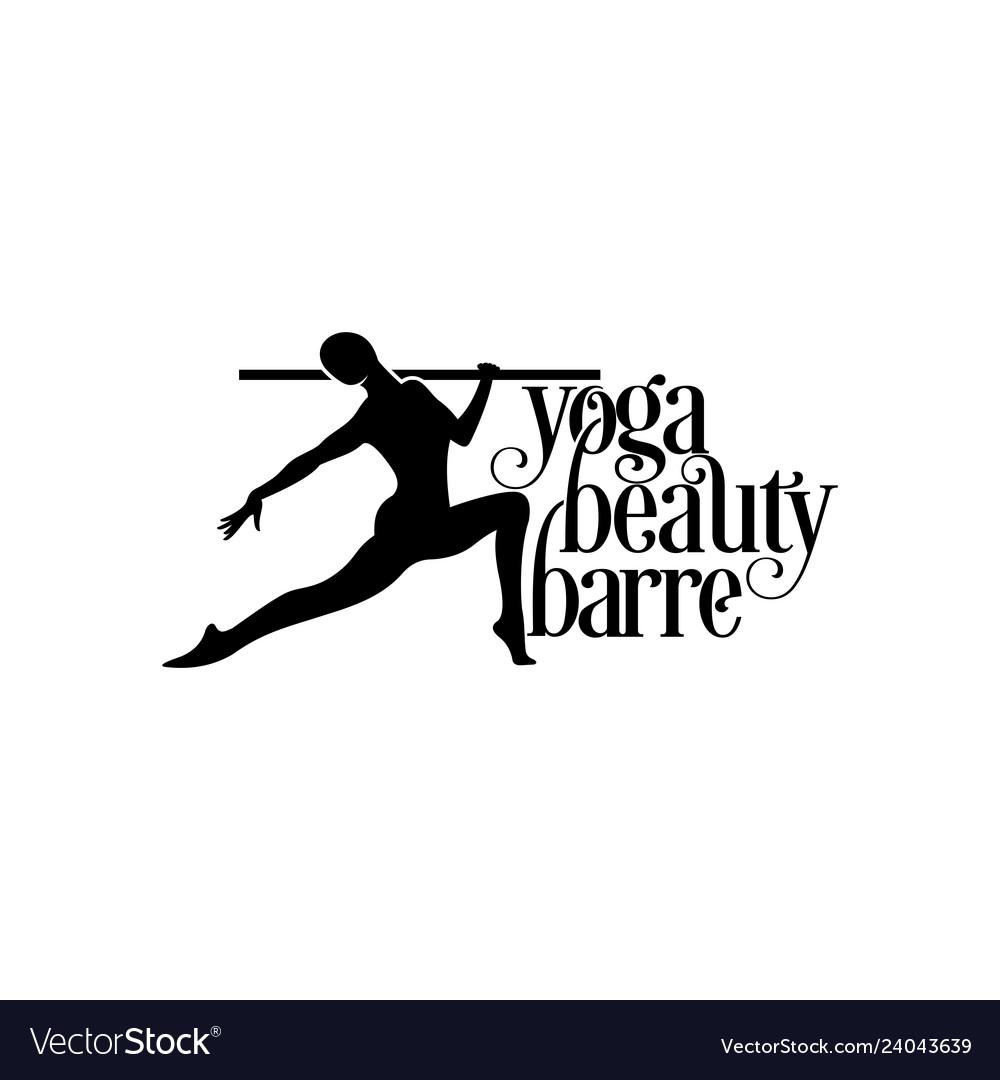 Yoga logo balerina logo