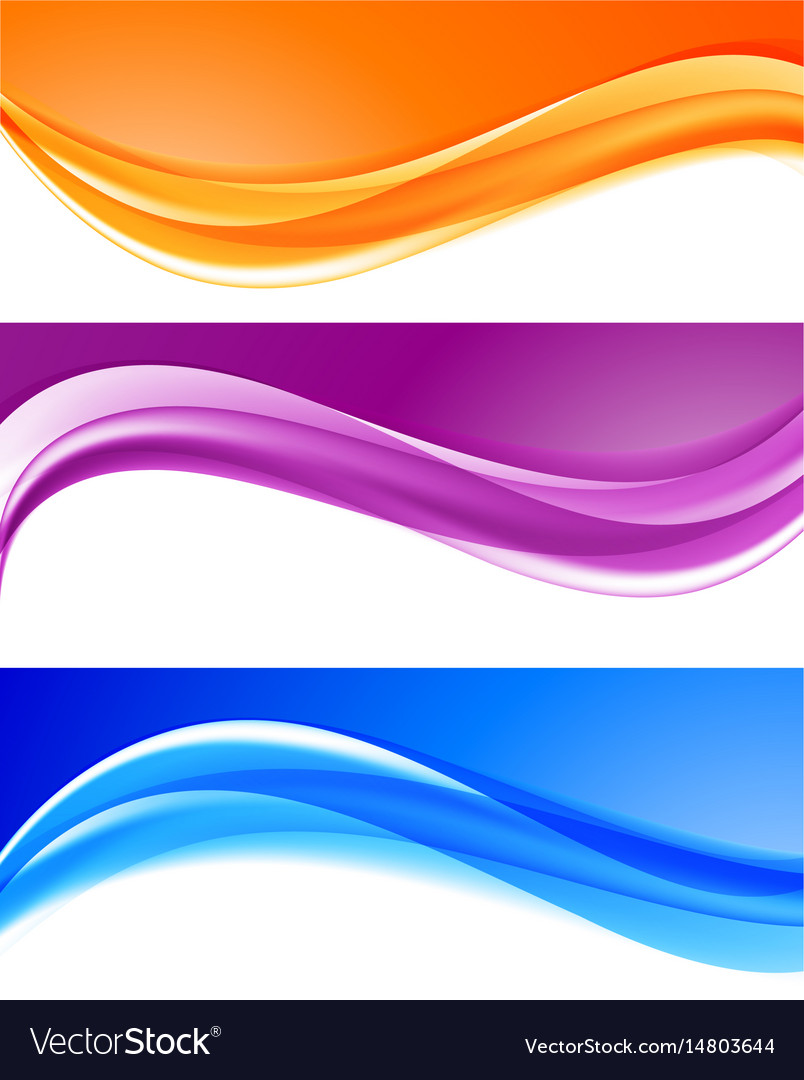 Abstract bright colorful backgrounds collection vector image