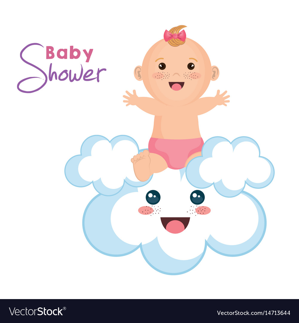 Baby and cloud design vector image