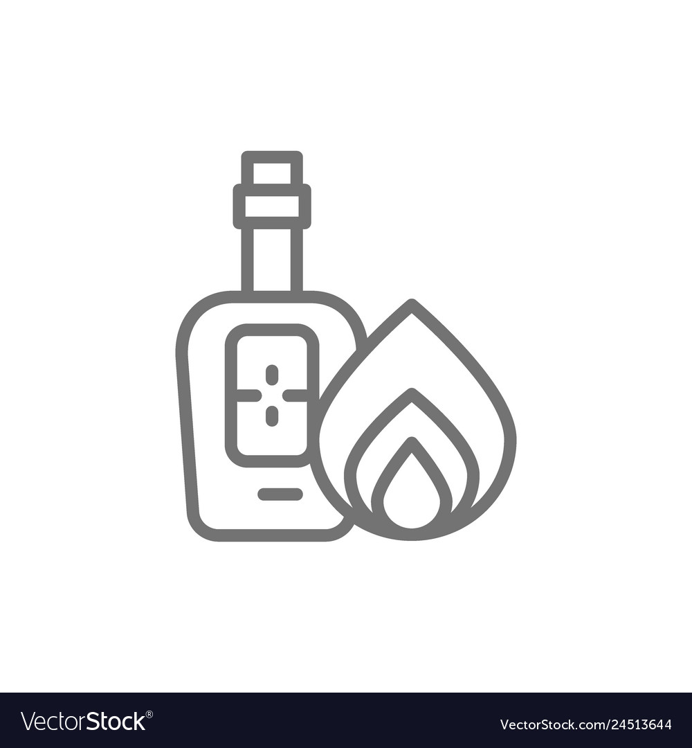 Bottle of tequila alcohol line icon