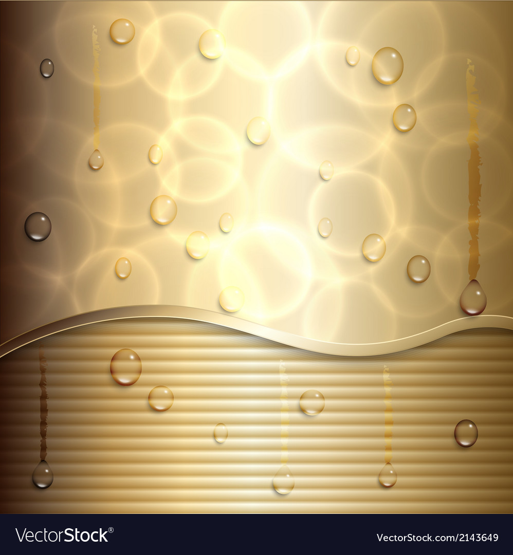 Abstract gold background with curve and stripes