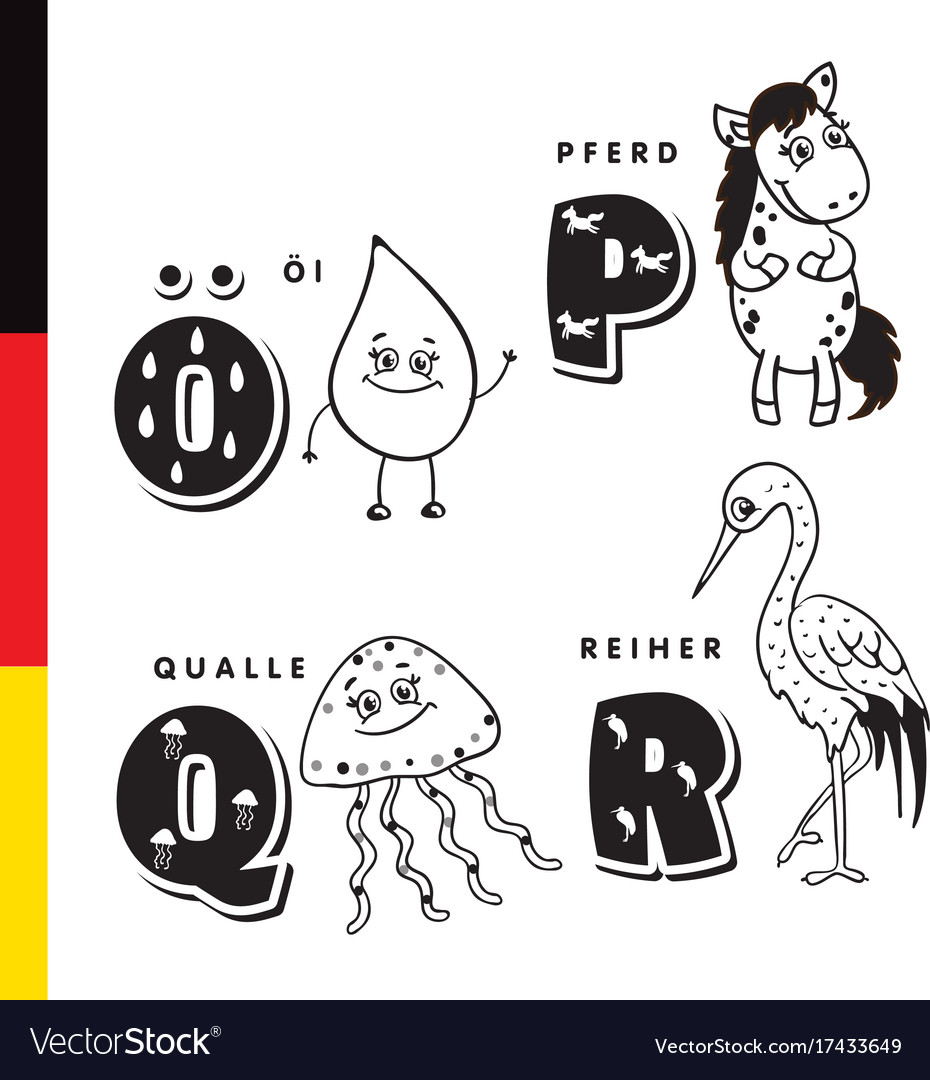 Deutsch alphabet olive oil horse jellyfish
