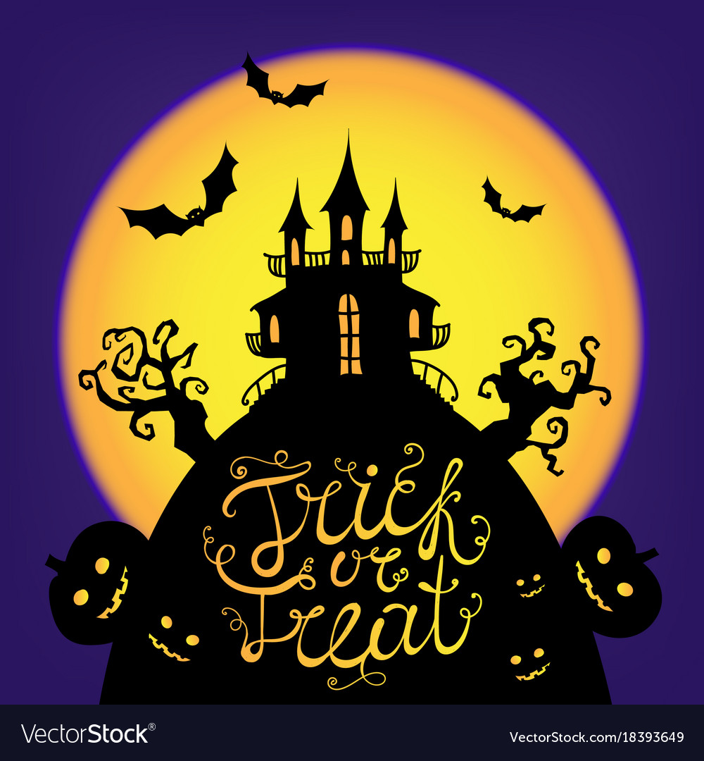 Halloween card poster trick