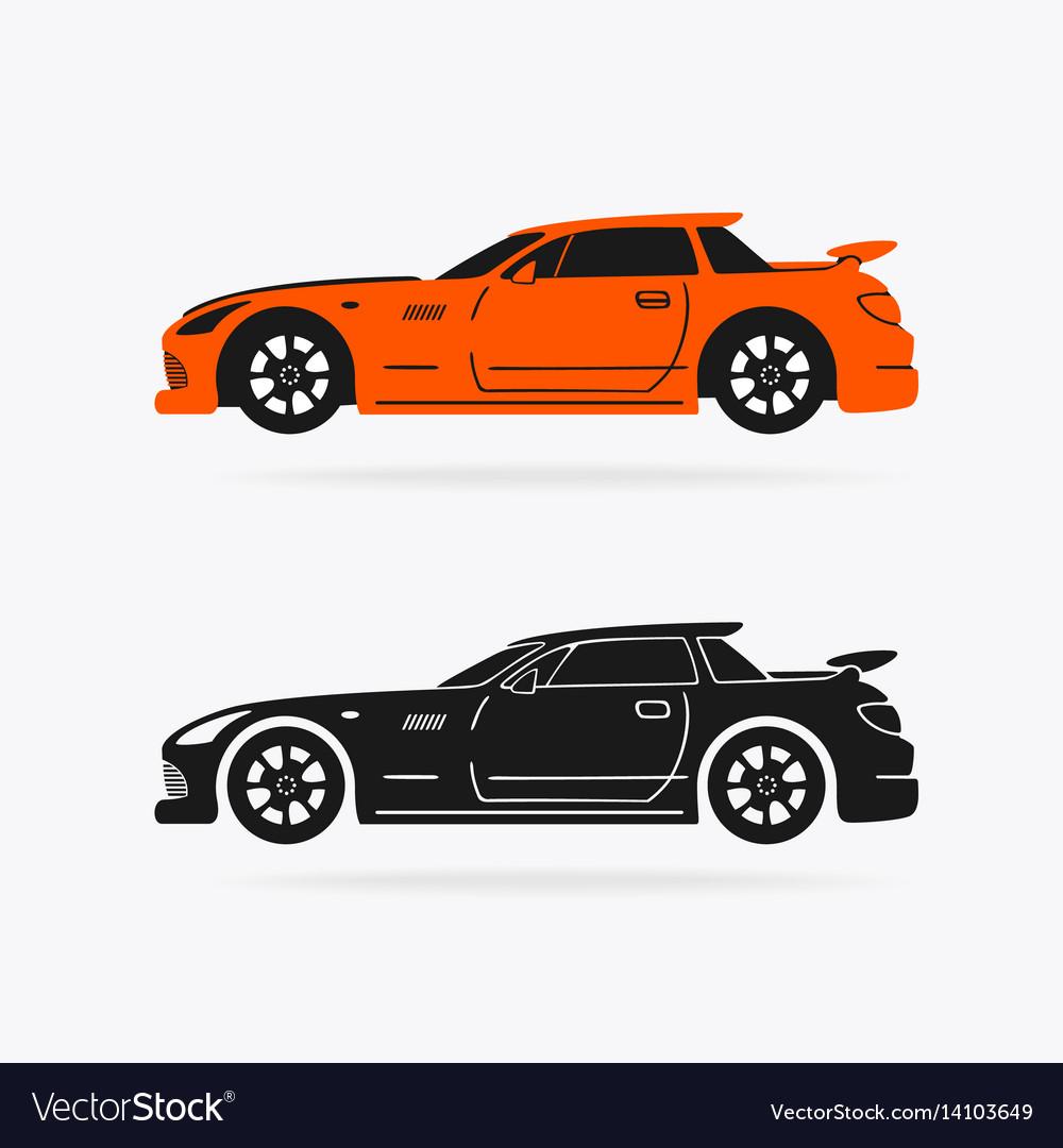 Sports Car Symbol Royalty Free Vector Image Vectorstock
