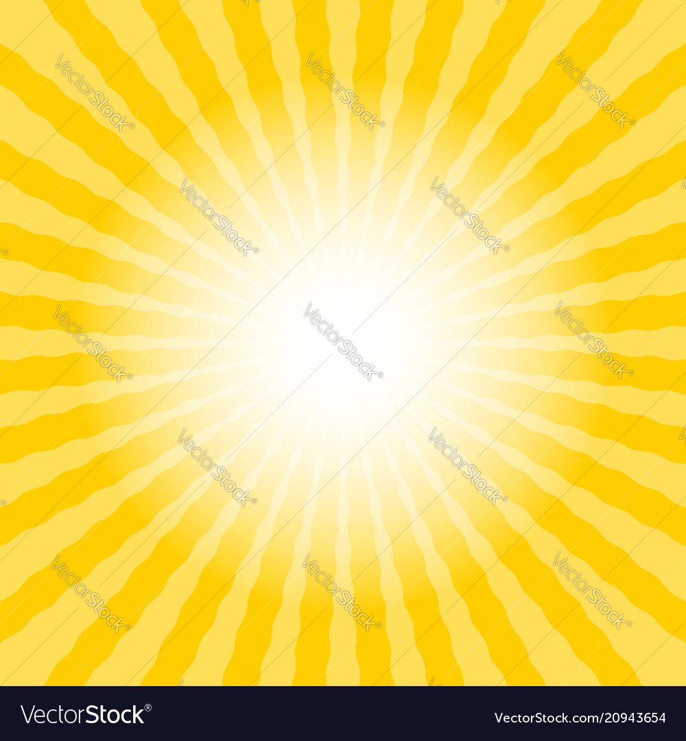 Abstract sun rays wavy yellow and white