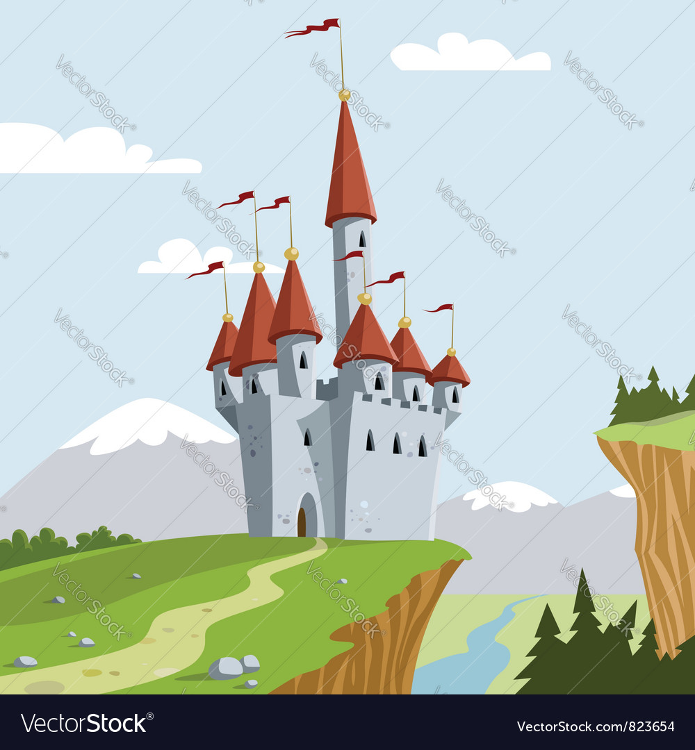 Chateau vector image