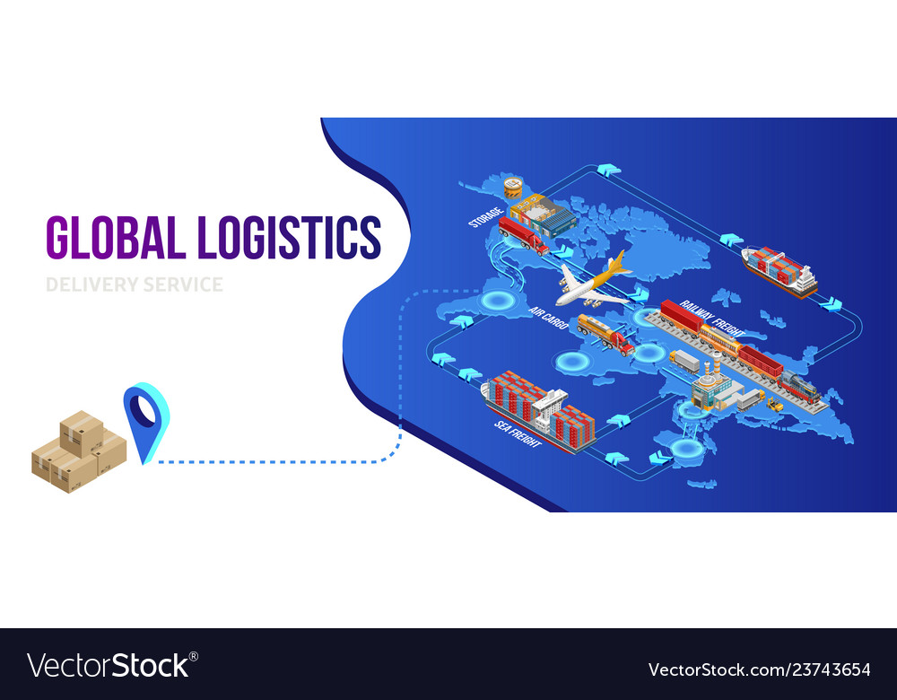 Connection of global logistics scheme with