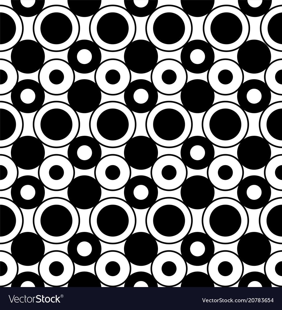 Geometric seamless pattern with circles
