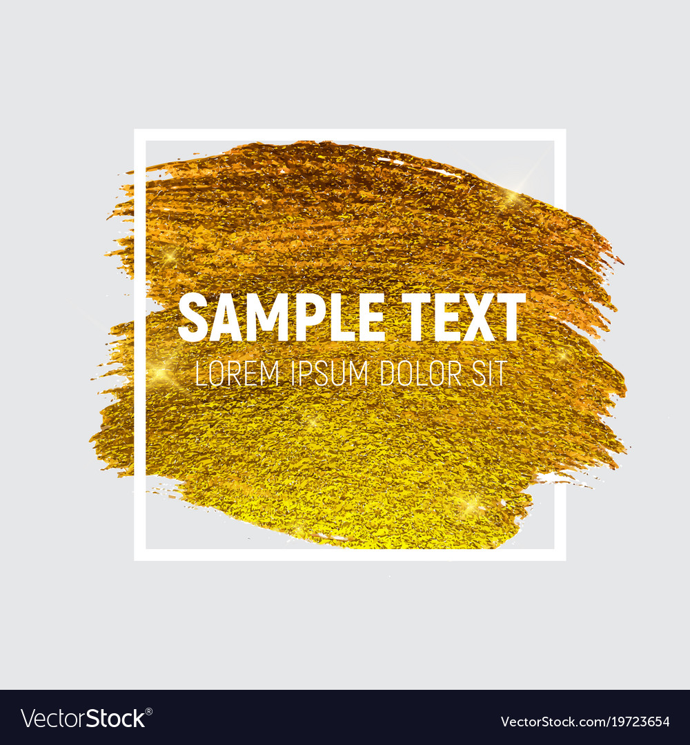 Gold paint glittering textured art