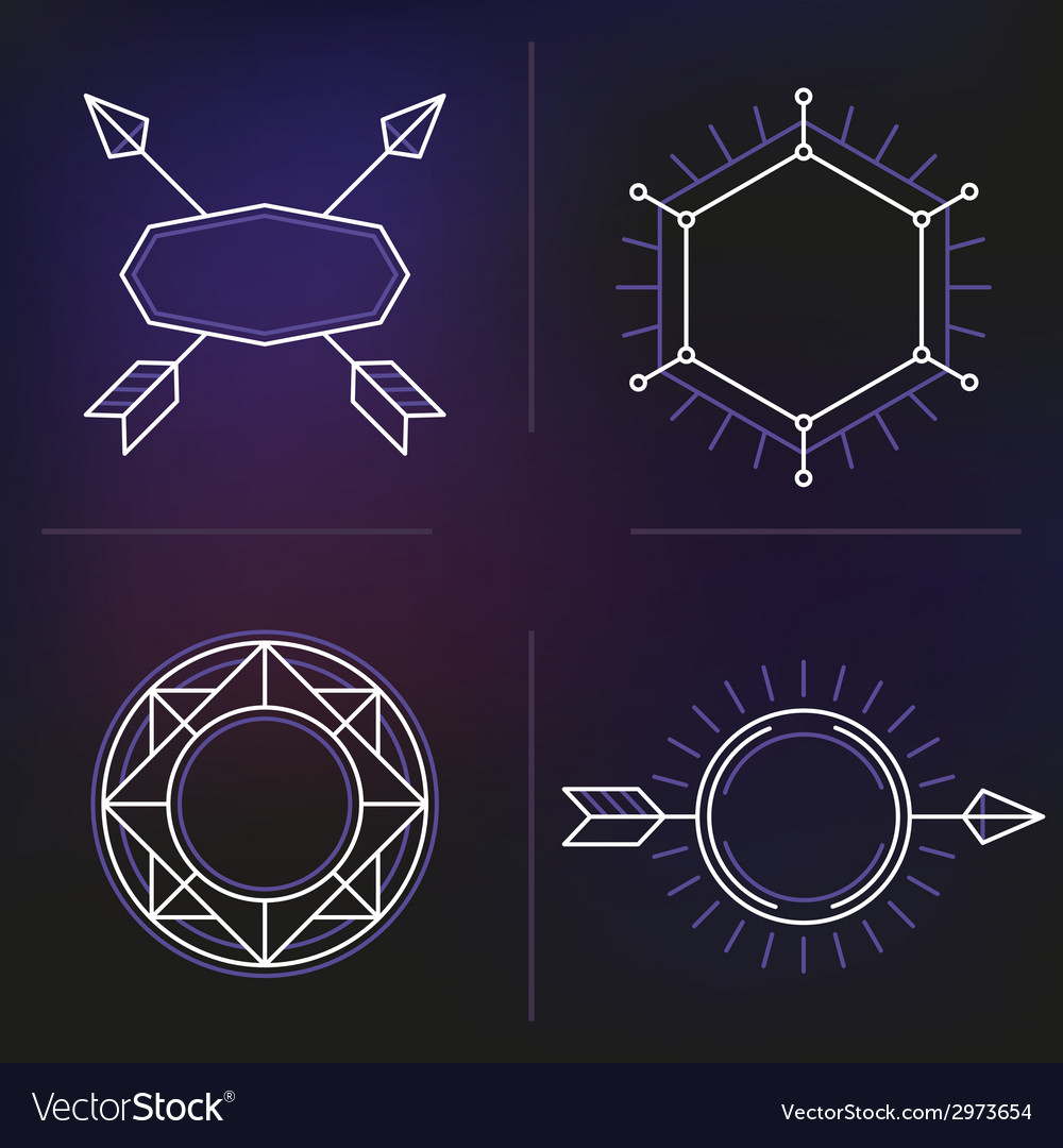 Hipster elements background