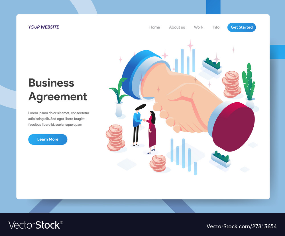 Landing page template business agreement