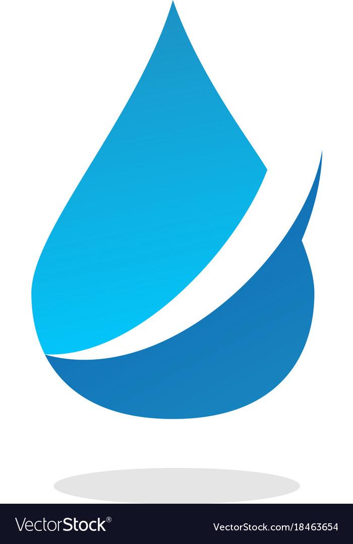 water drop logo royalty free vector image vectorstock