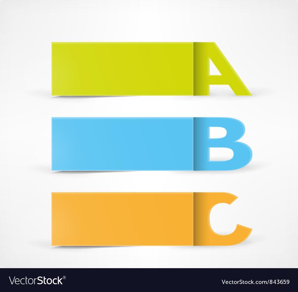 3 Option banners