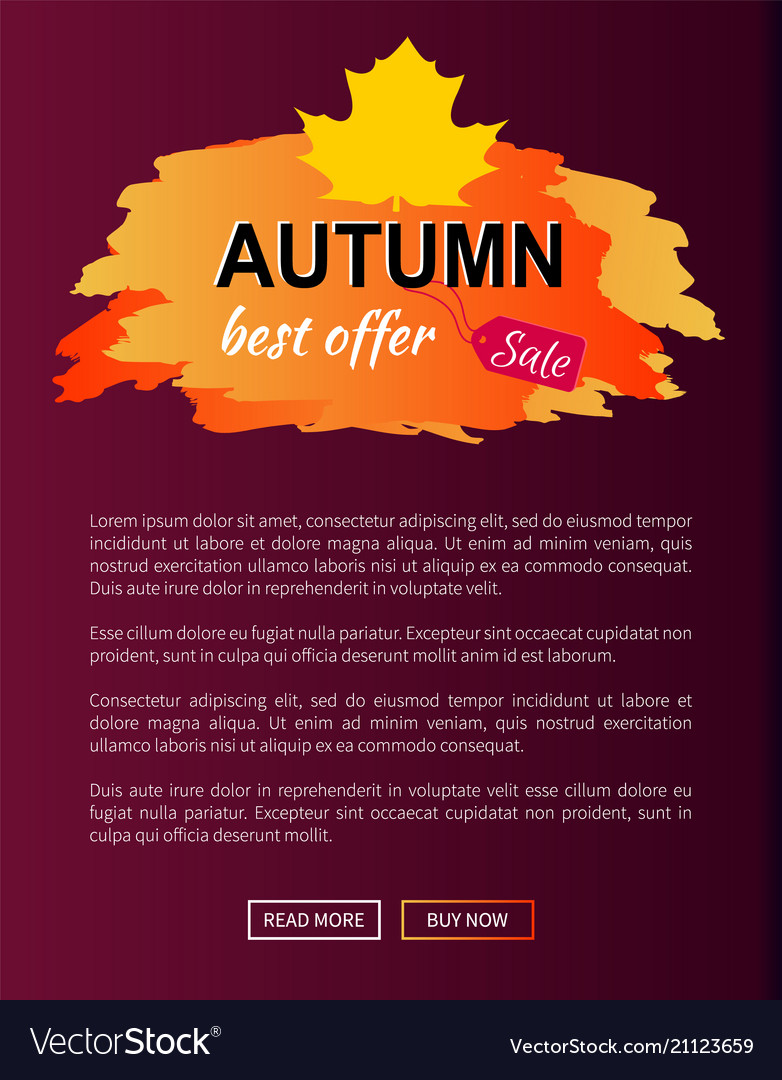 Best offer autumn sale -35 advert promo poster