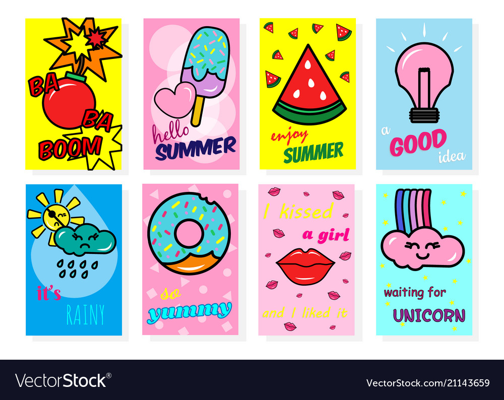 Collection of enjoy summer banner with fruits