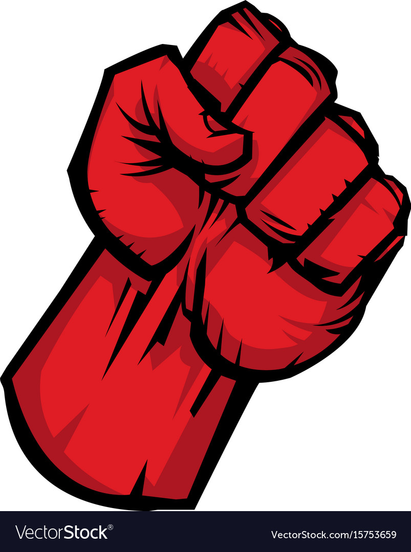 Raised fist icon